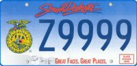 Click here to order your SD FFA License plates!